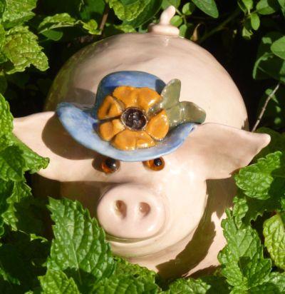 Piglet in the garden