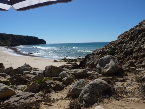 Praia do Zavial - View from base camp!