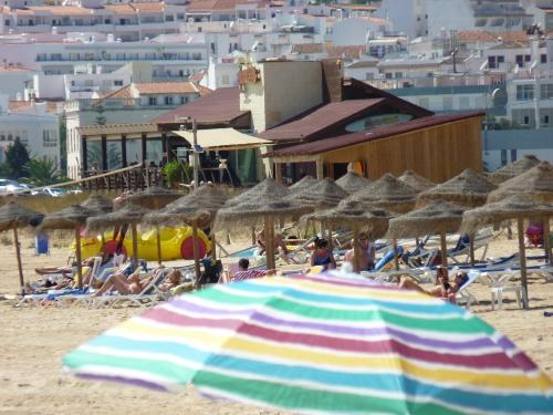 Meia Praia - concession area and restaurants