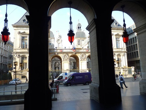"View from the ""shadows"" of the National Opera House, Lyon"