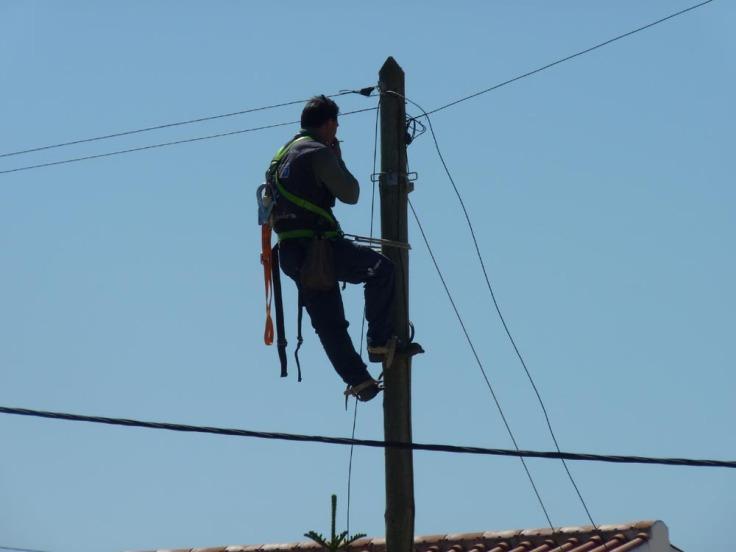 Telephone lines...