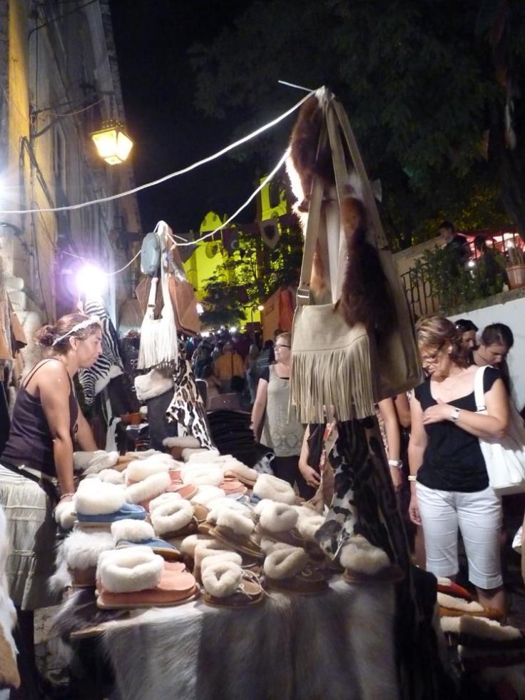 Silves Medieval Fair at night