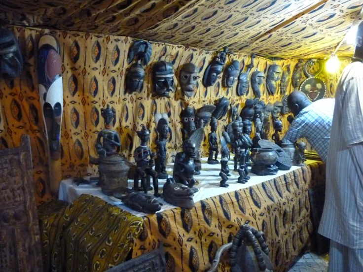 Silves Medieval Fair - Wooden African Masks