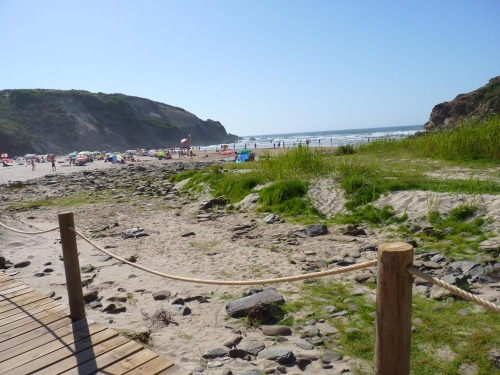 Praia do Carvalhal - View down to beach