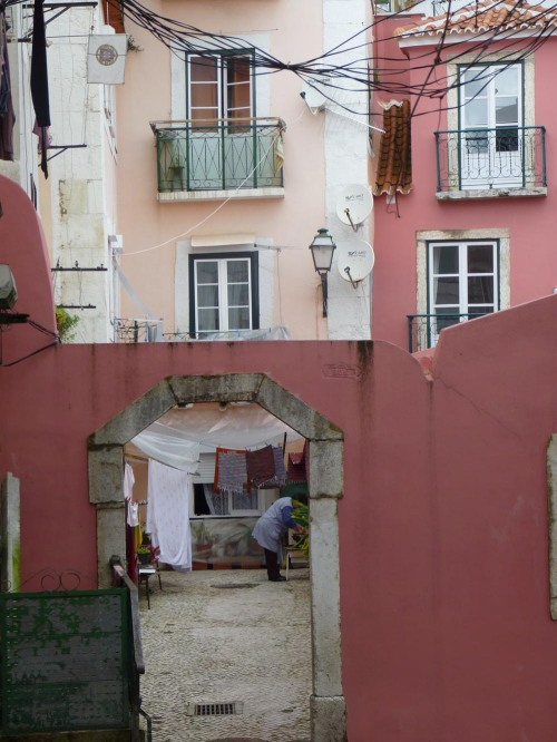 """Entrance"" in one of the back streets of Lisbon, Portugal"