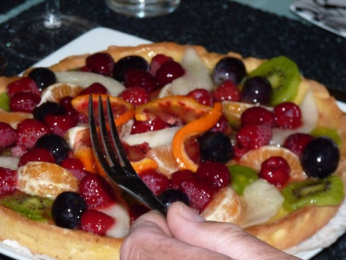 Fruit tarte in France