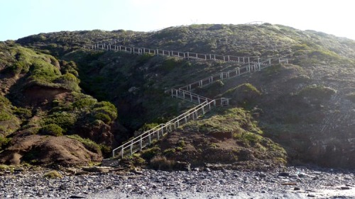 285 steps down to beach and then back up to car park!