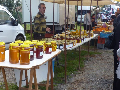 A great selection of local honey