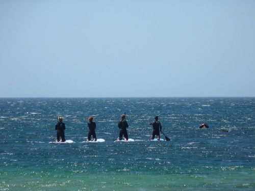 Paddle boarding from Praia da Ingrina, Western Algarve - Portugal