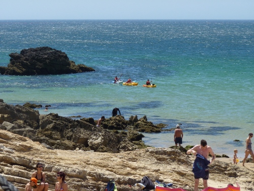 Kayaking at Praia da Ingrina, Western Algarve - Portugal