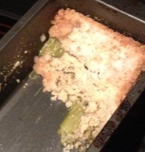 Cheats Rhubarb Crumble