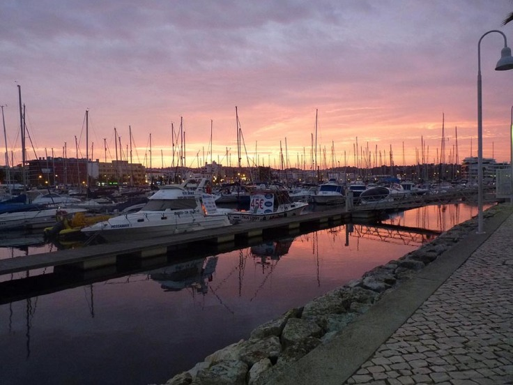 Lagos Marina at sunset