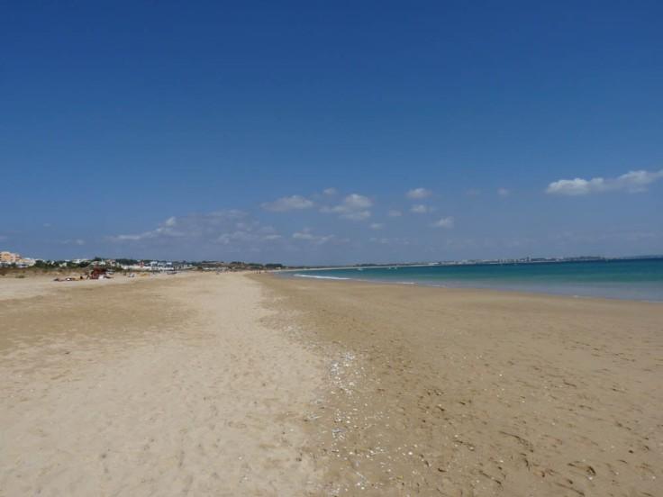 View from Meia Praia towards Alvor