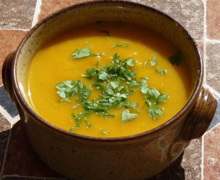 Cumin-spiced carrot and butternut squash soup