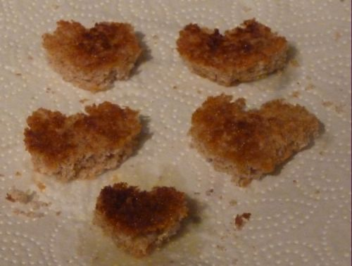 Little heart toasts