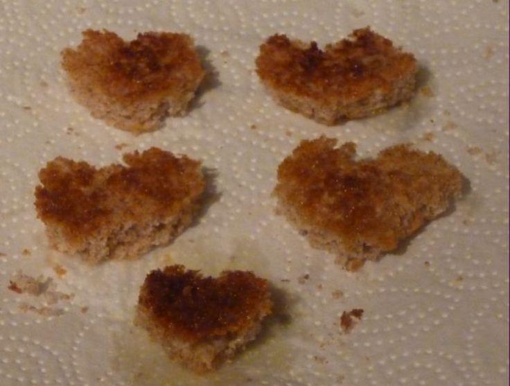 Little heart toasts