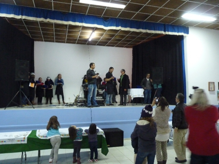 Announcing the winners at the Feira da Sopa in Rogil, Western Algarve