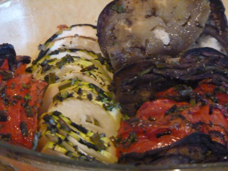 Zucchini, Tomato and Aubergine Bake