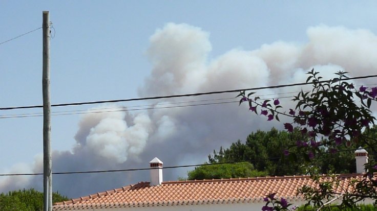 Fire on headland
