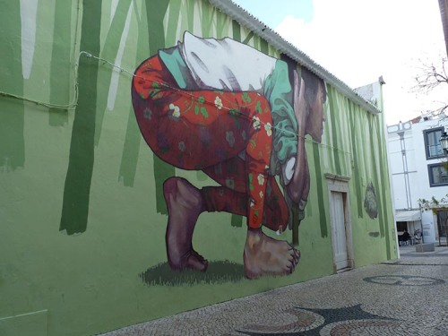 Street art in Lagos, Portugal