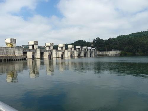 Crestuma-Lever Dam, Douro River, Portugal