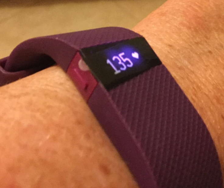 FitBitCharge HR - I pressed the button and the screen lit up but numbers remained static