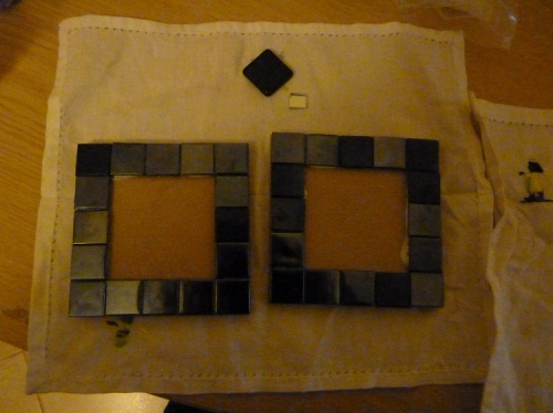 Mosaic Coasters - Adding the border