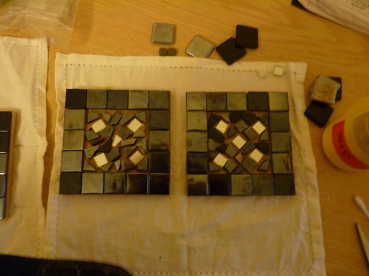 Mosaic Coasters - Adding the pattern