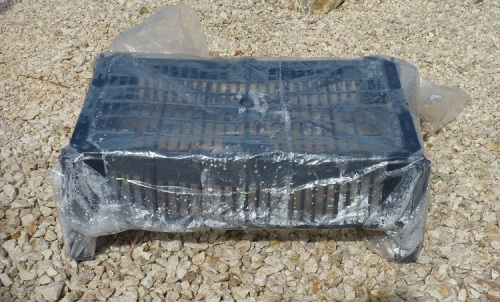 Cover crate with clear plastic