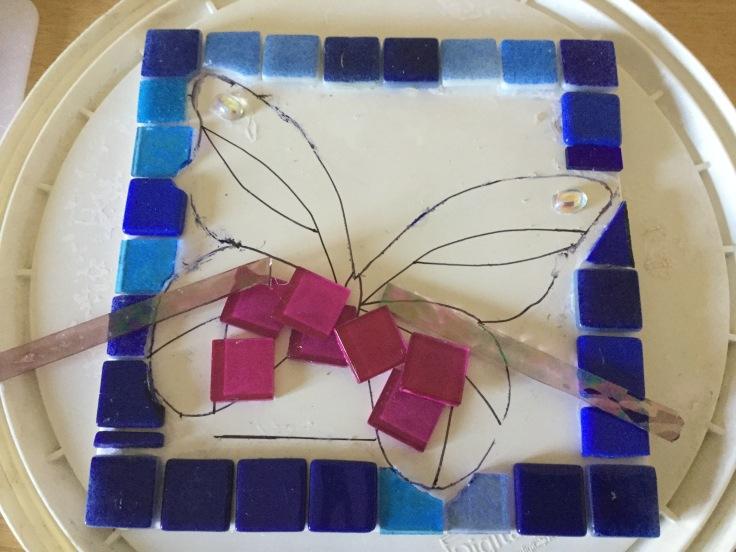Mosaic Butterfly - tentative beginning