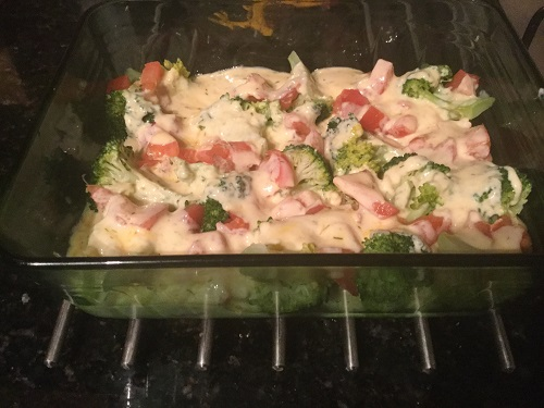 Fish pie without topping