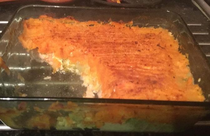 Yummy low fat fish pie
