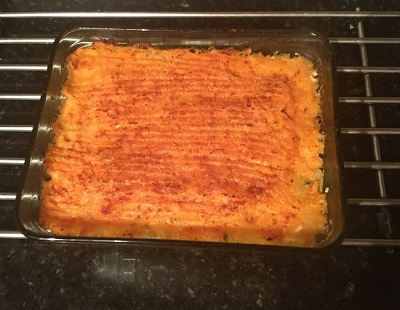 Yummy low fat fish pie