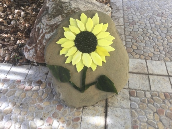 Sunflower Mosaic - Stone Art
