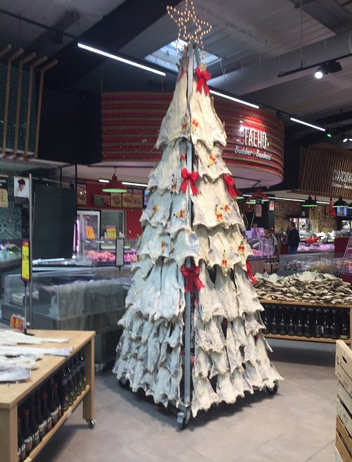 Bacalhau Christmas Tree in Intermarche, Lagos