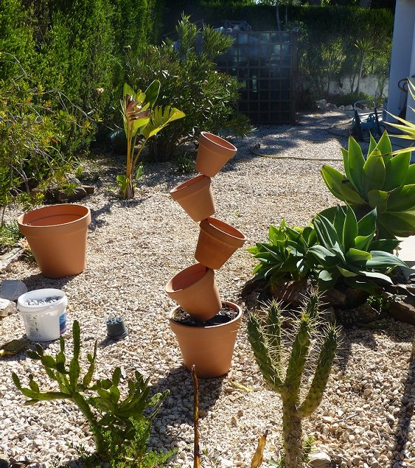 How to Make a Tippy pot display