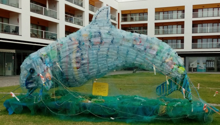 Plastic Dolphin - Lagos Marina, Algarve