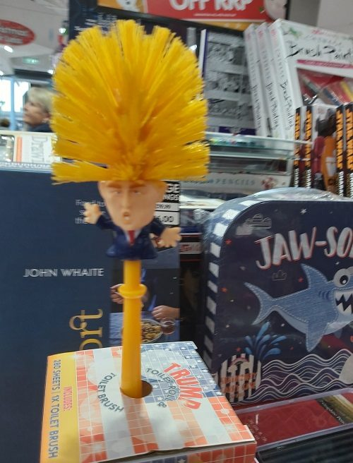 Trump toilet brush