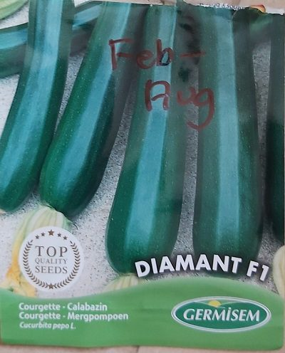 Diamant F1 courgette seeds
