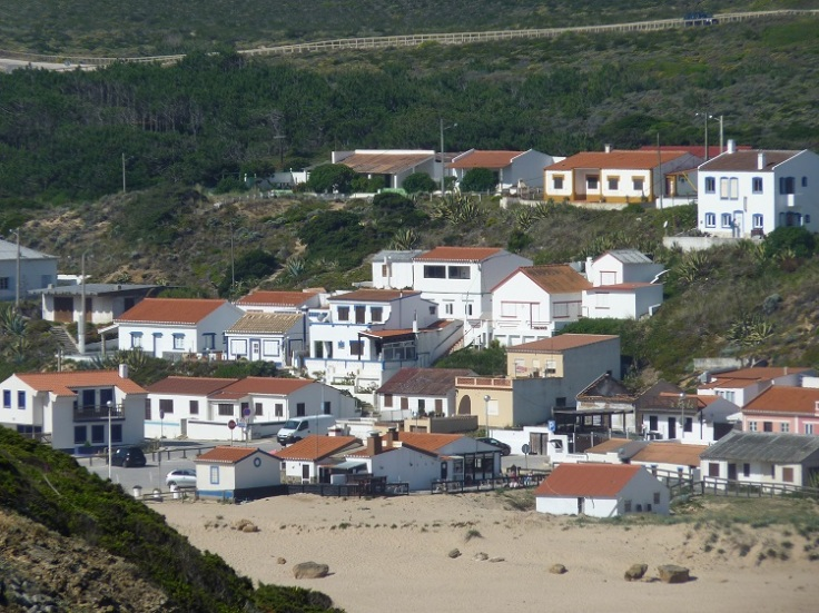 Houses at Praia do Monte Clerigo