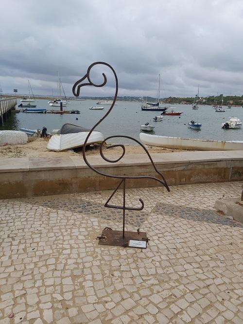 Flamingo metal sculpture - alvor